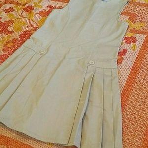 Schoolgirl Uniform Pinafore dress w/ pleated skirt